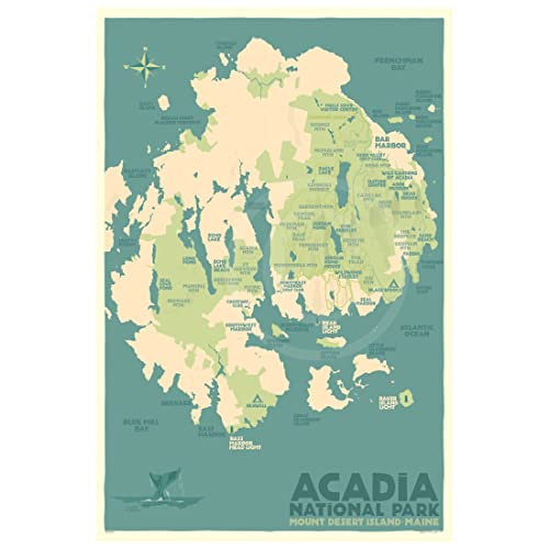 Amazon.com: Acadia National Park Map, Maine Print (24x36 ... on map of aroostook county maine, map of lincoln maine, map of rhode island maine, map of nova scotia maine, map of somerset maine, map of winn maine, map of liberty maine, map of popham colony maine, map of fairview maine, map of maine national parks, map of dover maine, map of columbia maine, map of lucerne maine, map of downeast maine, map of quebec maine, map of maine thunder hole arcadia, map of katahdin maine, map of mount desert island maine, map of colorado maine, map of franklin maine,