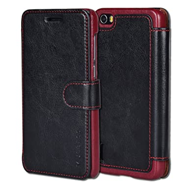 check out f291f 459c6 Huawei Honor 6 Case,Mulbess Pu Leather Flip Case Cover For Huawei Honor  6,Black