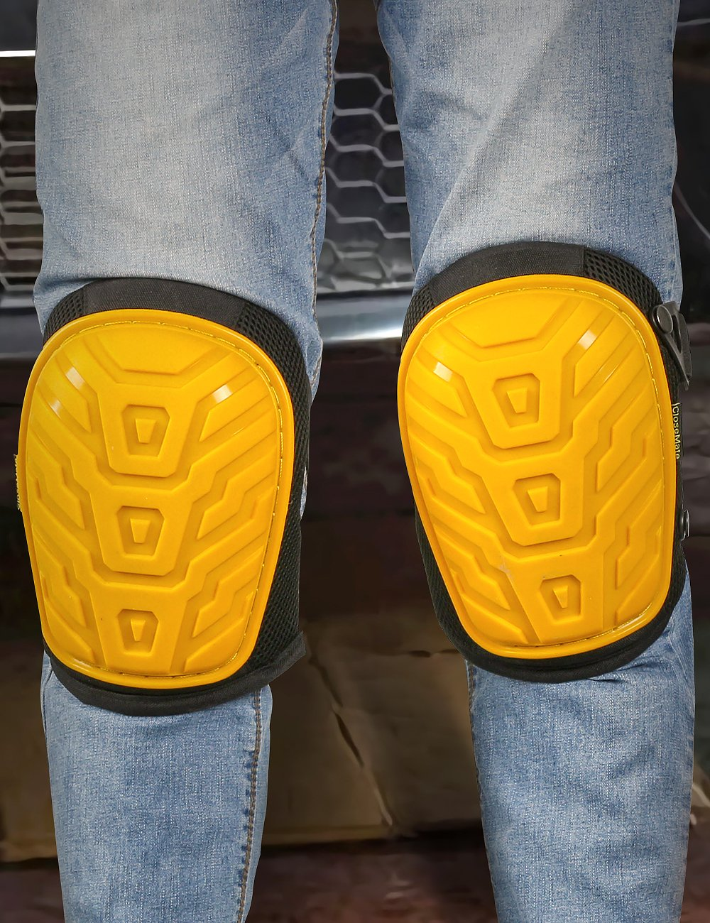 Anti-Slip Knee Pads for Work by Closemate, with Cozy Gel and EVA Foam Cushion, Designed for Gardening, Cleaning, Construction, Flooring and Carpeting, Professional Knee Protector by Closemate (Image #5)