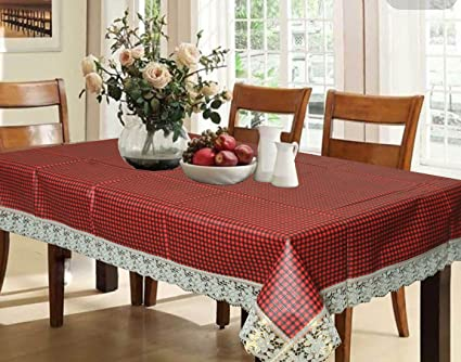 Kuber Industries PVC Dining Table Cover Set - Maroon