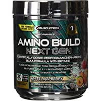MuscleTech Amino Build Next Gen, BCAA Powder, White Raspberry, 30 Scoops