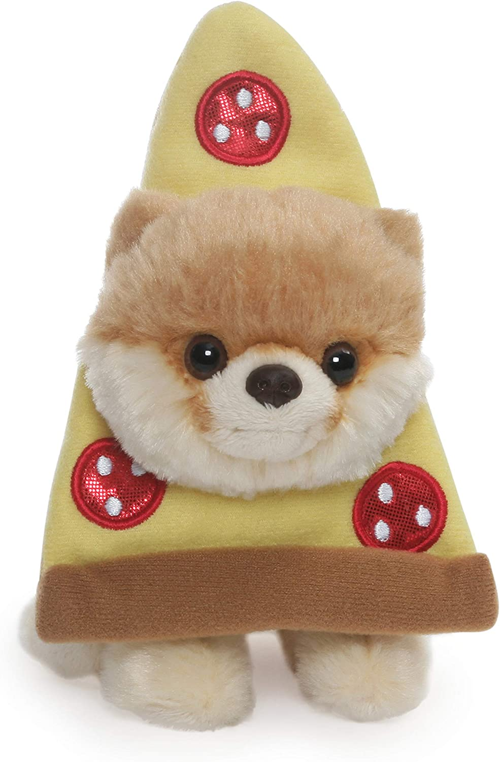 Amazon Com Gund Boo World S Cutest Dog Itty Bitty Boo Pizza Plush Stuffed Animal 5 Toys Games