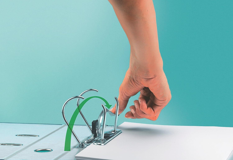 10155085 Leitz Raccoglitore con meccanismo a leva 180/° Formato commerciale Plastica Grigio Dorso 5 cm