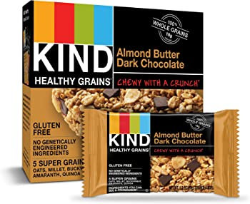 40-Pack KIND Almond Butter Dark Chocolate Healthy Grains Granola Bars