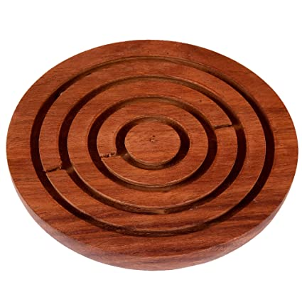 RADANYA Labyrinth Game Ball-in-a-Maze Puzzles Round Wooden Game for Kids, Adults, Boy & Girl