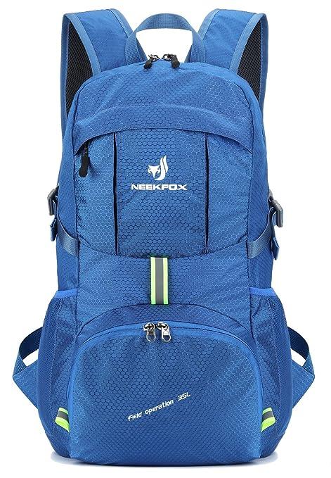 d6ead52e5b NEEKFOX Zaino Zainetto da Trekking Leggero e Compatto da Viaggio, Zaino da  Campeggio Pieghevole da