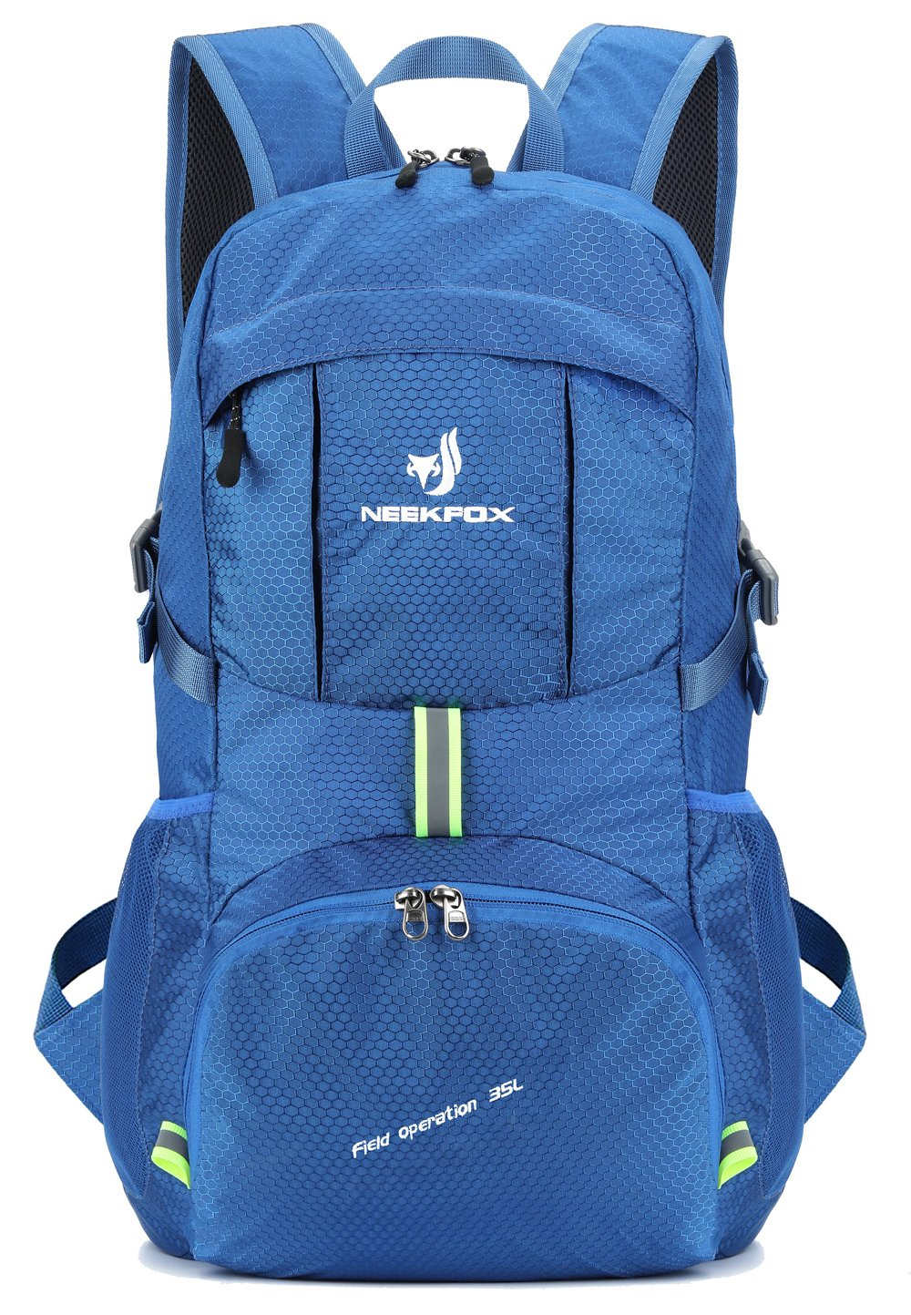 NEEKFOX Lightweight Packable Travel Hiking Backpack Daypack,35L Foldable Camping Backpack,Ultralight Outdoor Sport Backpack (Blue)