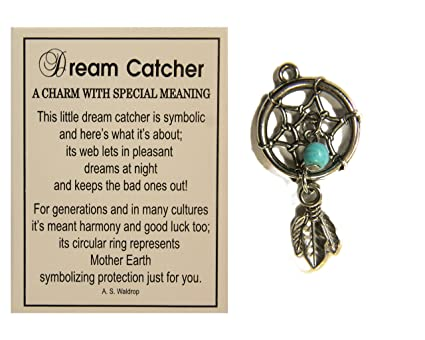 Amazon Tiny Little Dream Catcher Pocket Charm With Story Card New Story Behind Dream Catchers