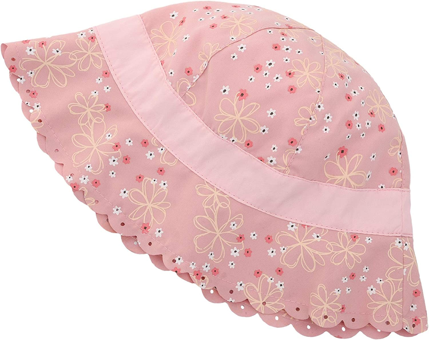 ERISO Baby Girl Sun Hat Bowknot Bucket Hats for Infant Toddler Summer Sun Protection