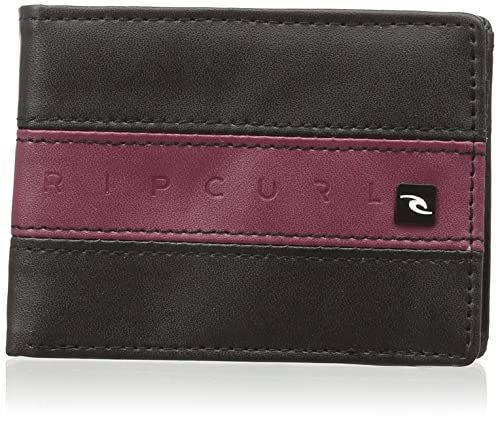 Rip Curl Word Boss PU Slim Billetero de Polipiel, Color Negro
