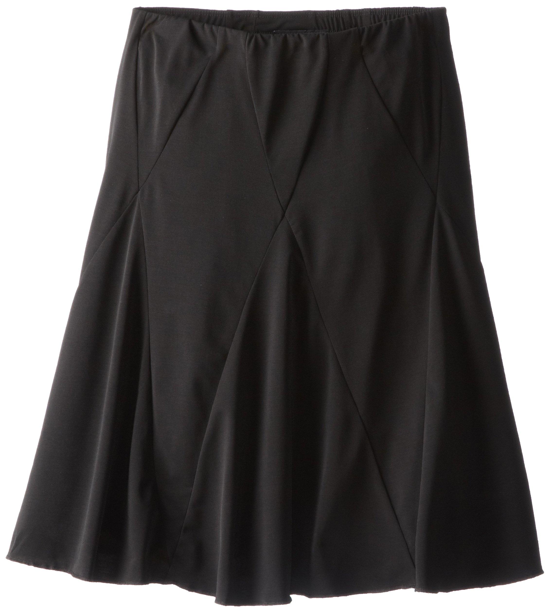 Amy Byer Big Girls' Knit Seamed Skirt, Black, Medium