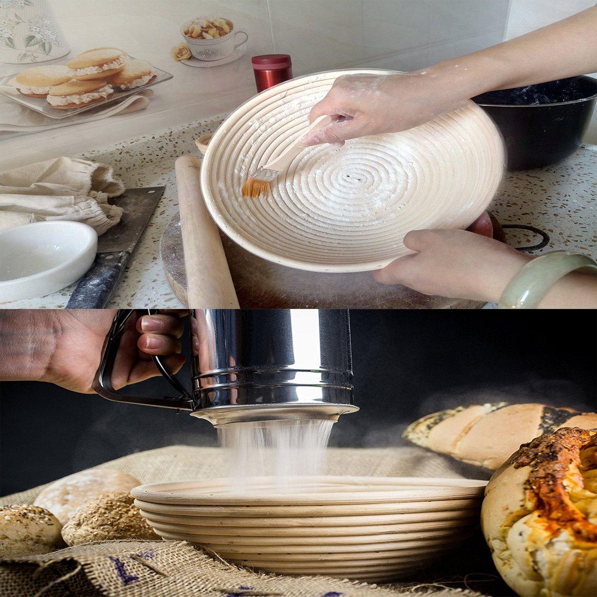 Daorier Natural Ratan Levar masas masa de pan cesta de comprobaci/ón tradicional redondo daorier Natural Ratan Levar masas masa de pan cesta de comprobaci/ón tradicional redondo 18*9cm