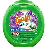 81-Count Gain Flings Moonlight Breeze Laundry Detergent Pacs, HE Compatible