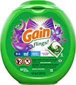 Gain flings! Laundry Detergent Pacs plus Aroma Boost, Moonlight Breeze Scent,