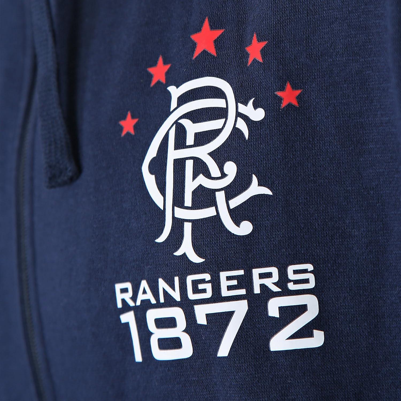 Rangers FC Official Football Gift Mens Fleece Zip Hoody