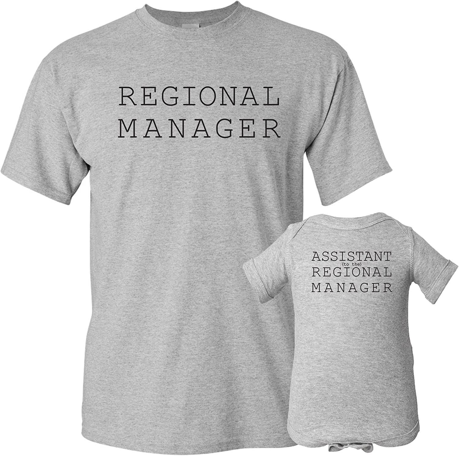 UGP Campus Apparel Regional Manager - Funny Joke Adult T Shirt & Infant Creeper Bundle