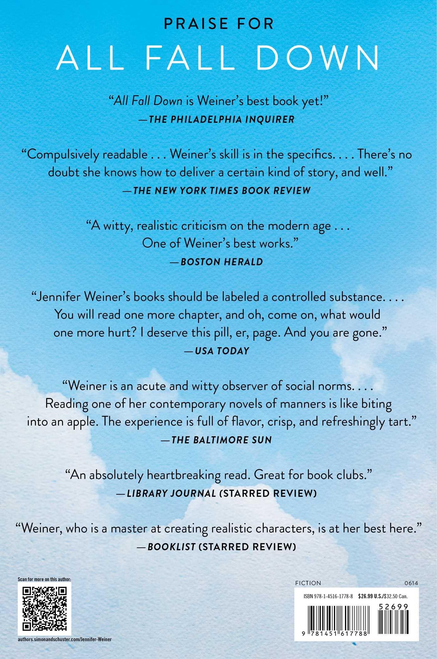 All Fall Down: A Novel: Jennifer Weiner: 9781451617788: Amazon: Books