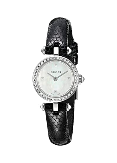 711edb96 Gucci Women's YA141511 Analog Display Swiss Quartz Black Watch ...
