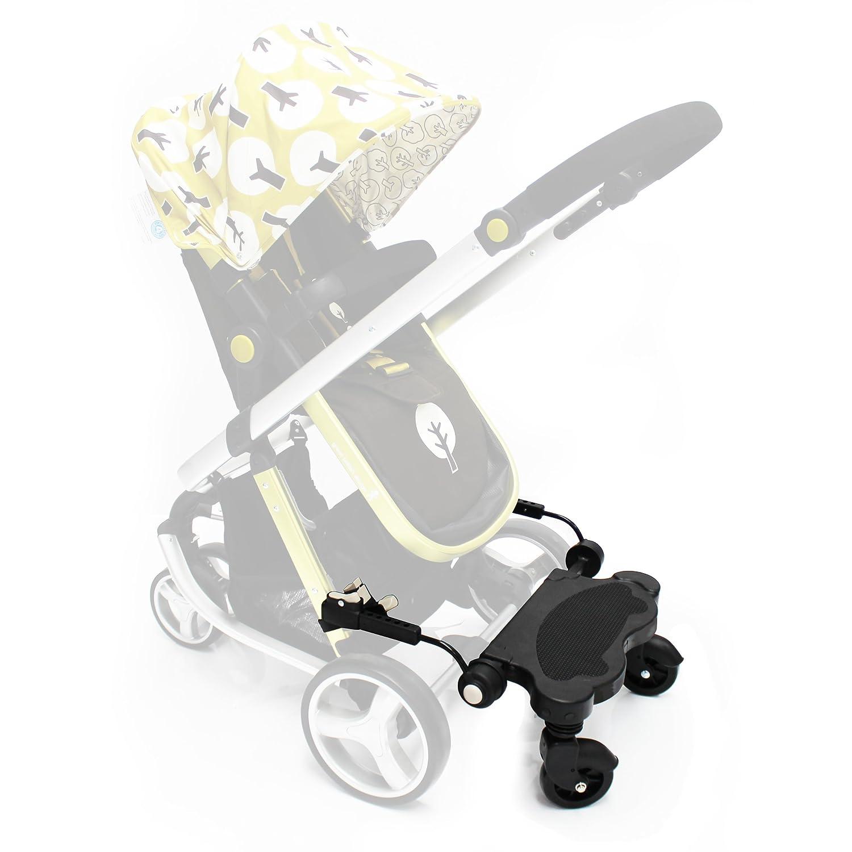 Buggy Pram Ride-On Board Black (Plain) Baby Travel® BtBugBrdGrey