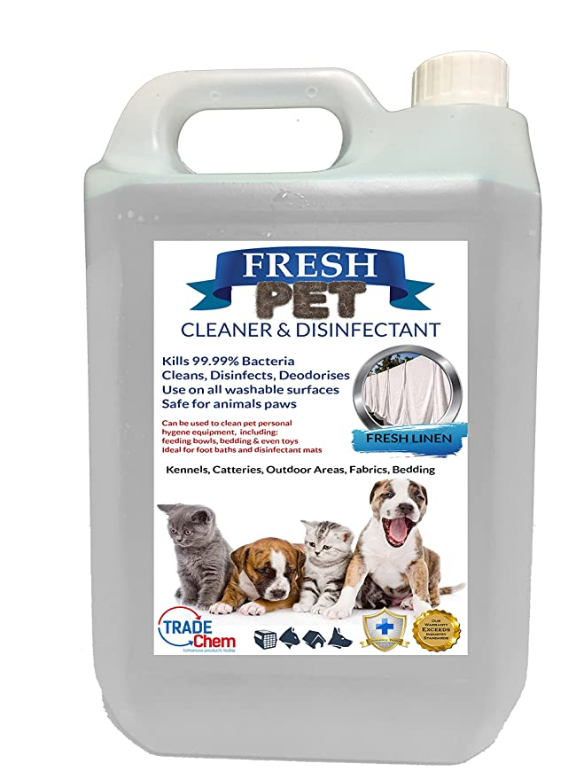 Fresco Mascota de la perrera desinfectante y limpiador de/cattery - Mata 99.99% de las bacterias - elimina Olor - Cherry, Alpine, limón, Floral, ...