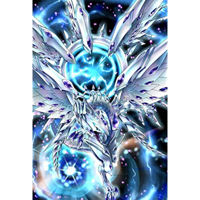 (100)YuGiOh Small Size Deep-Eyes White Dragon Card Sleeves 100 Pcs 63x90 mm: Toys & Games