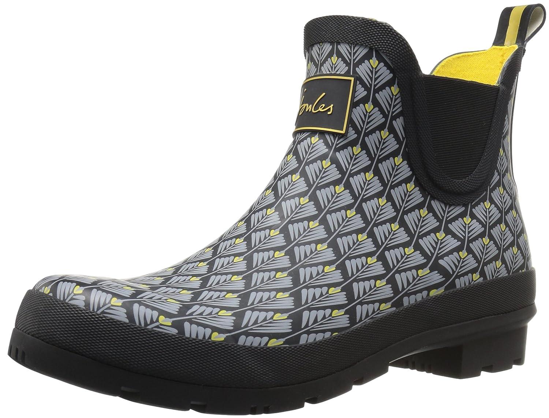 Joules Women's Wellibob Rain Boot B06WD2XCWL 6 B(M) US|Black Feather Geo