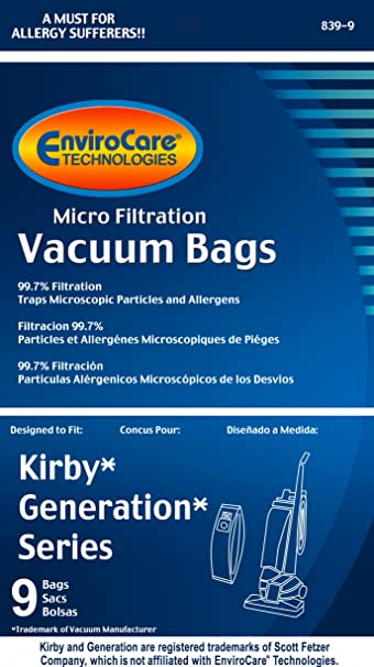 Amazon.com - EnviroCare Replacement Micro Filtration Vacuum Bags for Kirby Generation Series 1, 2 3, 4, 5, and 6. 18 Pack -