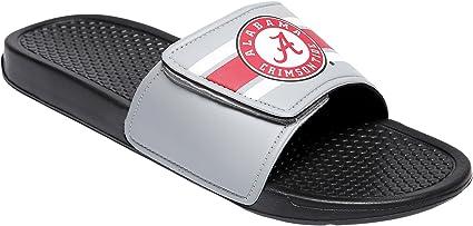 Team Color Medium//Mens Size 9-10 NCAA Michigan Wolverines Mens Deluxe Foam Sport Shower Slide Flip Flop SandalsDeluxe Foam Sport Shower Slide Flip Flop Sandals