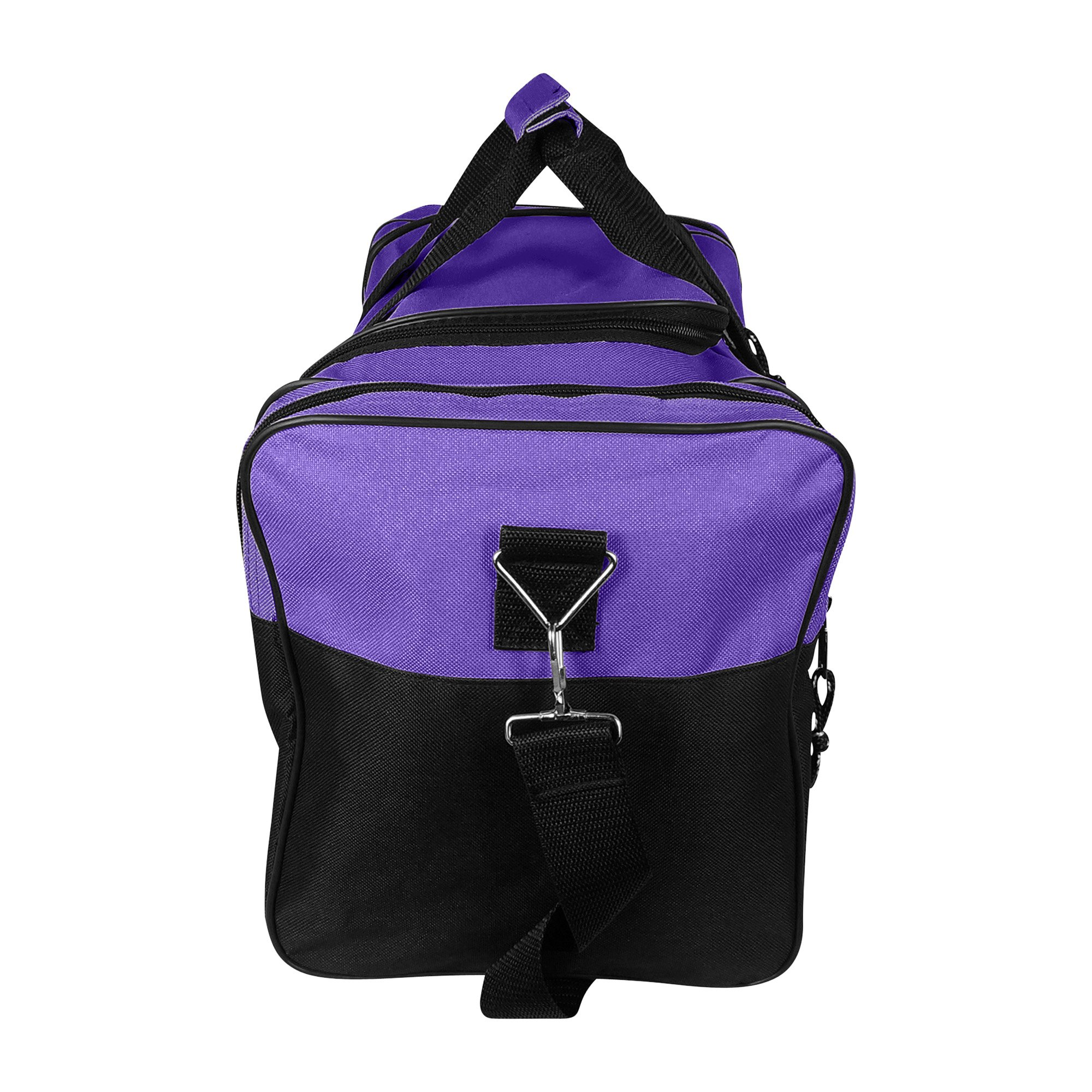 Blank Duffle Bag Duffel Bag in Black and Purple Gym Bag - DF-005 ... b42d660ed5
