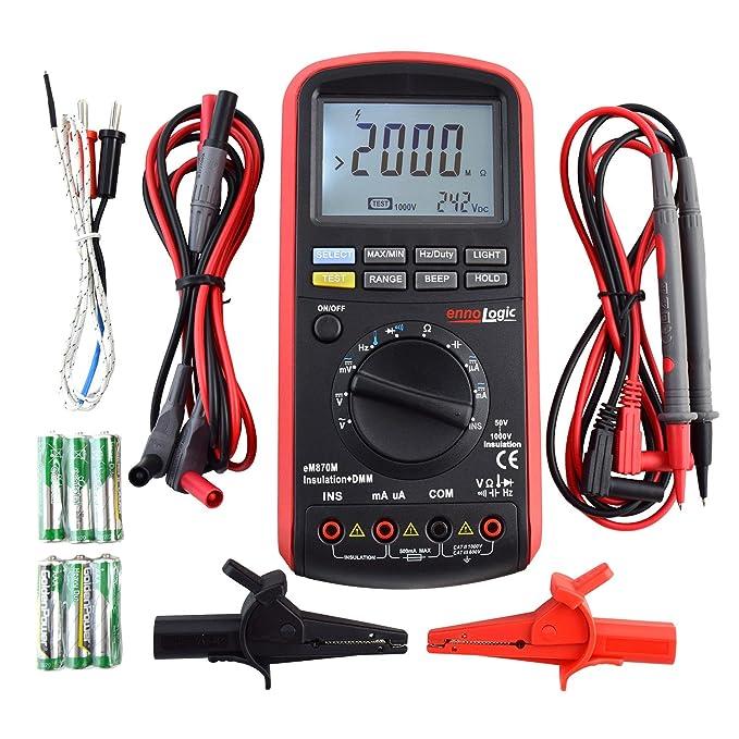 Review Insulation Tester 50/100/250/500/1000V, Megohmmeter