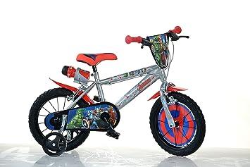 Dino Bikes Avengers Infantil Unisex Ciudad Metal Azul, Rojo bicicletta - Bicicleta (Plegado,