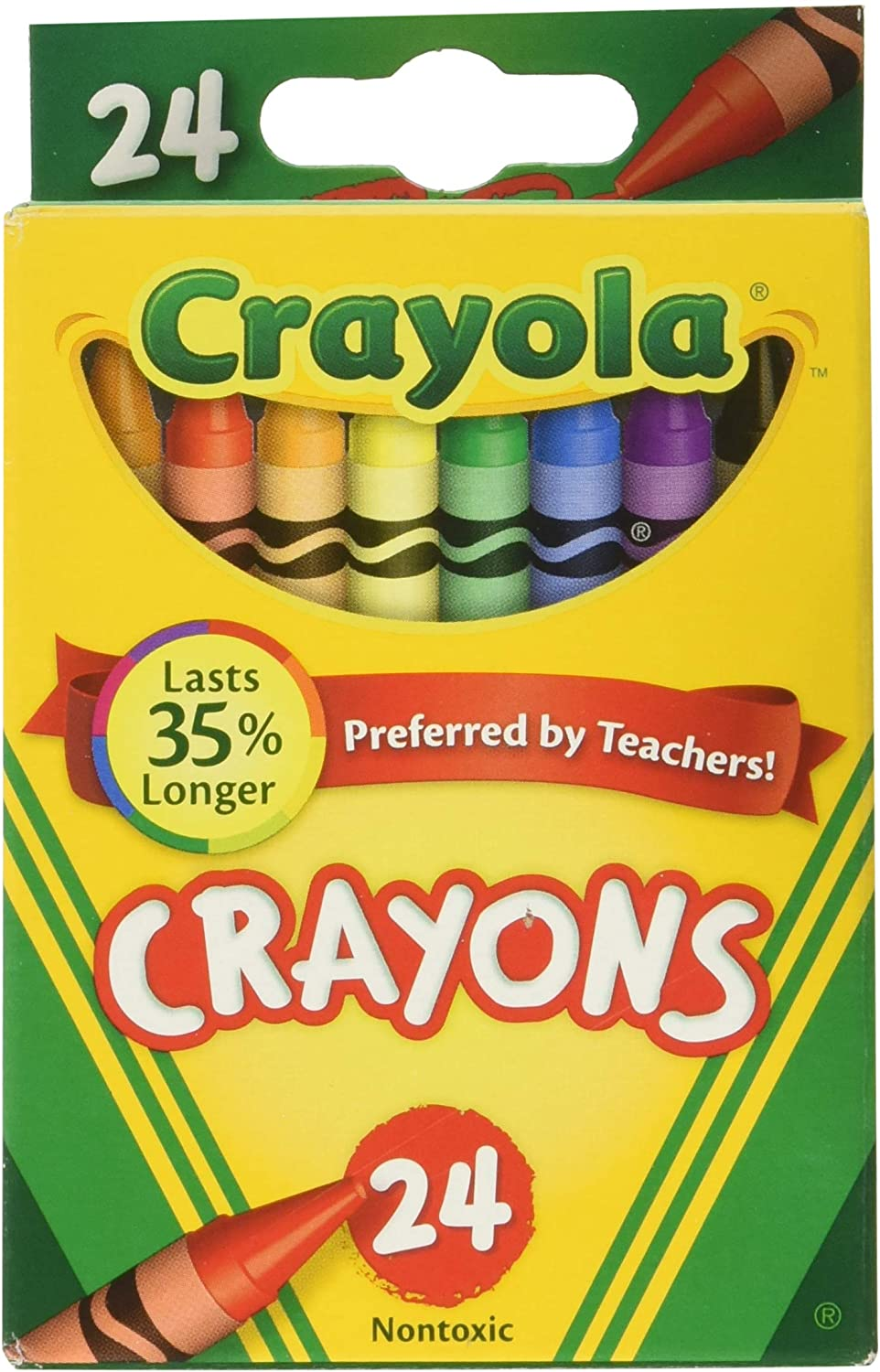 Amazon.com: Crayola Crayons 24 in A Box (Pack of 6) 144 Crayons in ...