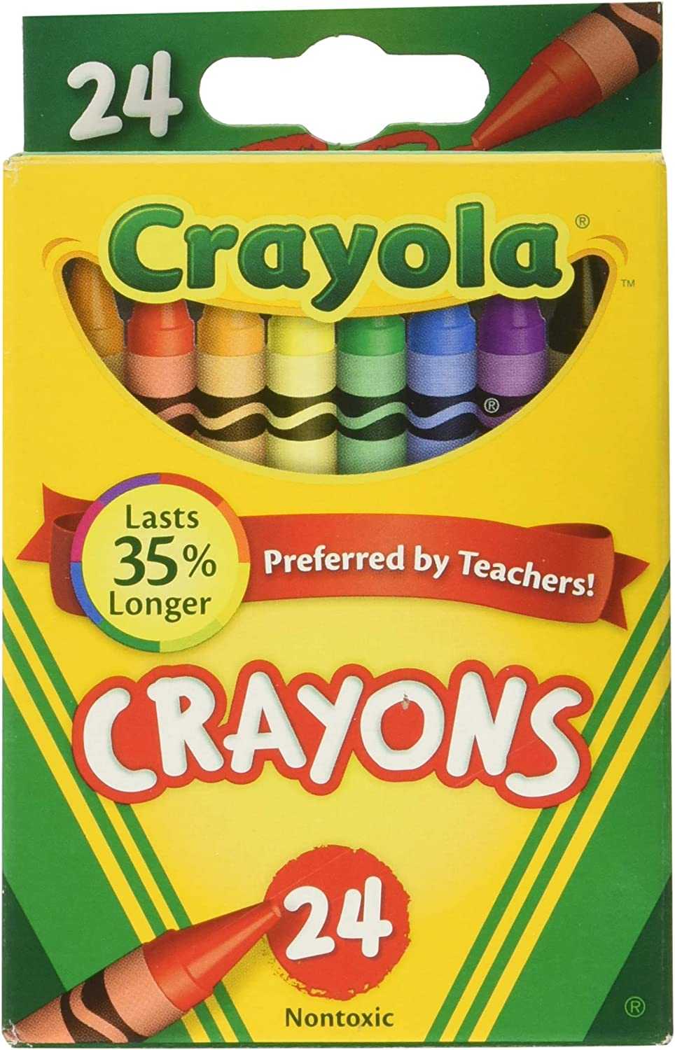 12 Crayon Packs with 24 Assorted Colors Crayola Crayons Bulk