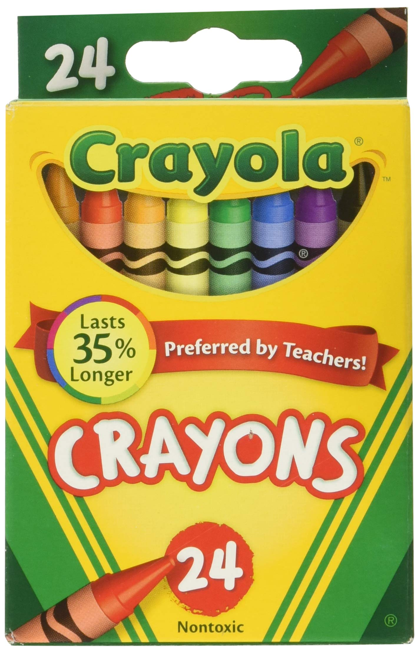 Crayola Crayons 24 in A Box (Pack of 6) 144 Crayons in Total by Crayola