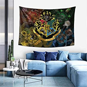 XUSHEJA Har-Ry Potter Popular Movie Wall Hanging Psychedelic Soft Wall Blanket Skin-Friendly Picnic Blanket for Bedroom Dorm Decorations Ceiling Decor Tapestry Wall Hanging