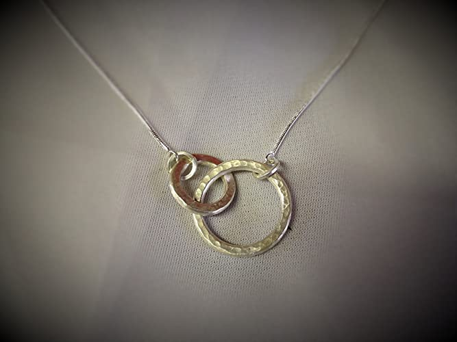 Amazon infinity rings necklace handmade infinity rings necklace aloadofball Choice Image