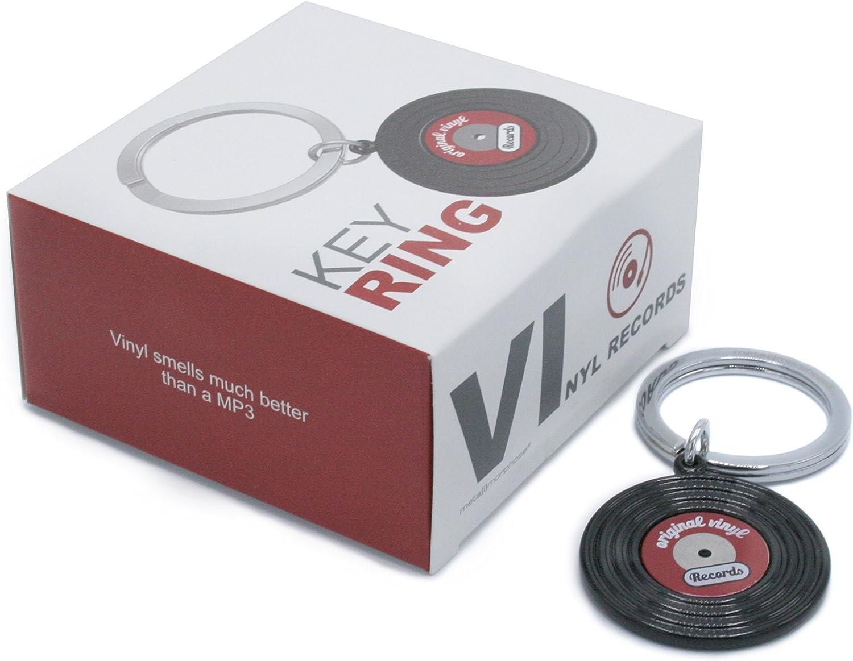 Llavero con discos de vinilo 3D. Joya-llavero de metal vintage con ...