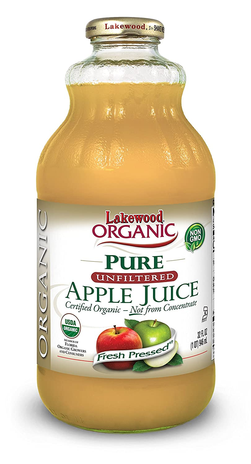 Lakewood Organic Apple Juice, 32-Ounce Bottles (Pack of 6)