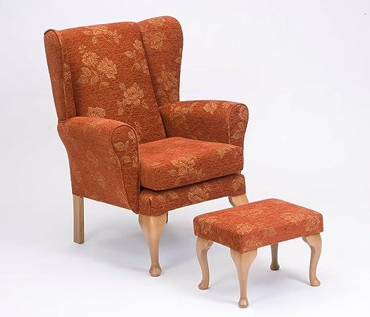 queen anne fireside highback wingback chair