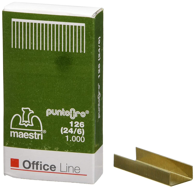 Ro-ma CF10X1000 Punti 24/6 126 Oro, Confezione da 10 1003103