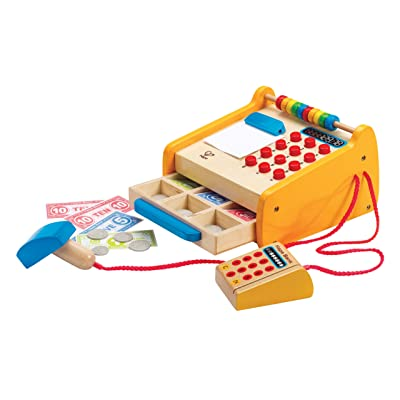 Hape Checkout Register Kid's Wooden Pretend Play Set: Toys & Games
