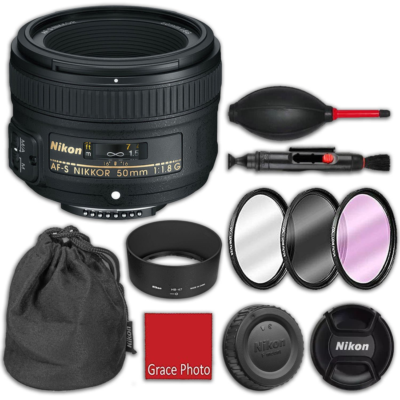 Nikon 50 af-s Nikkor 50 mm Nikon f/1.8g hb-47バヨネットレンズフード Nikkor、cl-1013ソフトケース、3ピースフィルタキット(UV、CPL、FLD)、ゴムエアダストブロワー、レンズクリーニングペン B07FK6KGZN, クマゲグン:cd812f4e --- ijpba.info