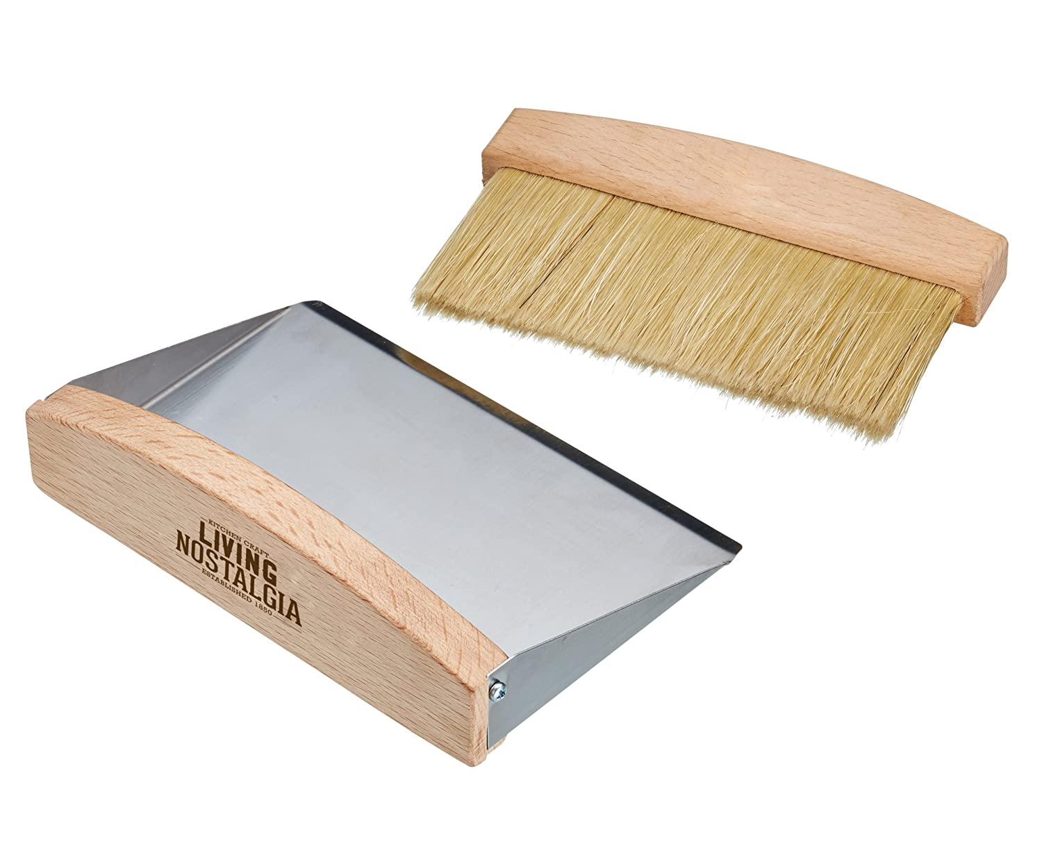 Kitchencraft Living Nostalgia Table-top Dustpan And Brush Set, 16 x 11 x 14cm