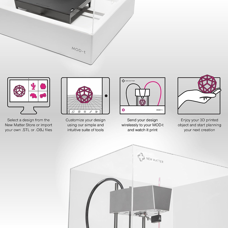 New Matter Mod T 3d Printer >> New Matter Mod T Desktop 3d Printer Built In Wifi Easy To Use
