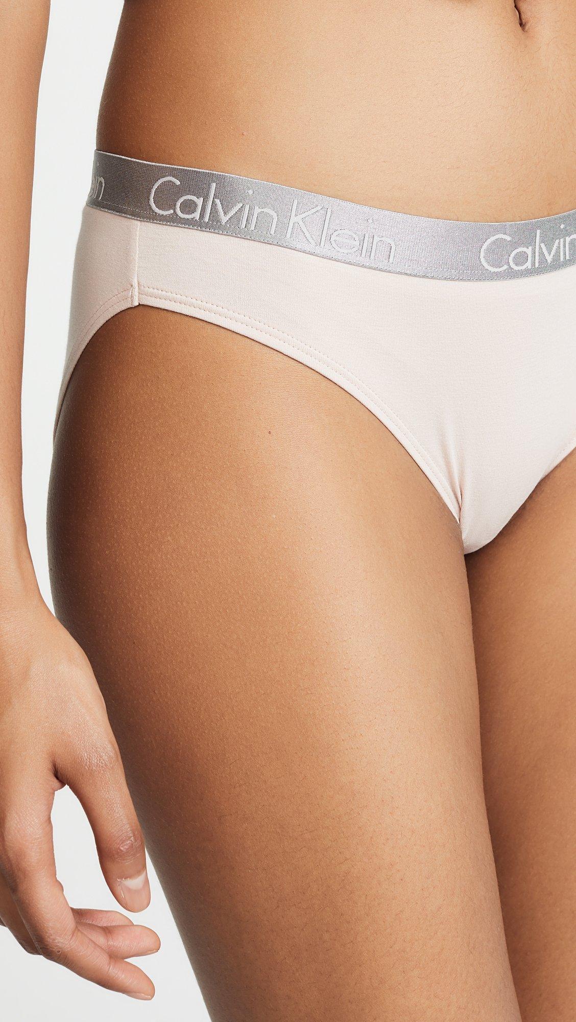 Calvin Klein Women's Radiant Cotton Bikini Panty, Sheer Blush/White/ Simmer Green, X-Small by Calvin Klein (Image #6)