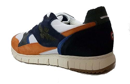 b7881b1e8b Aeronautica Militare Scarpe Sneaker SC140, Arancio-Blu, Uomo, Felpa ...