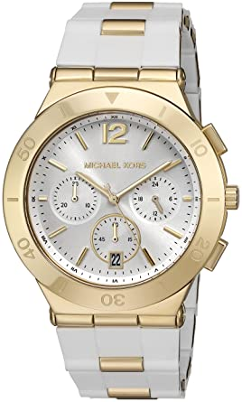 Michael Kors Watches Wyatt Chronograph Stainless Steel Watch (White)