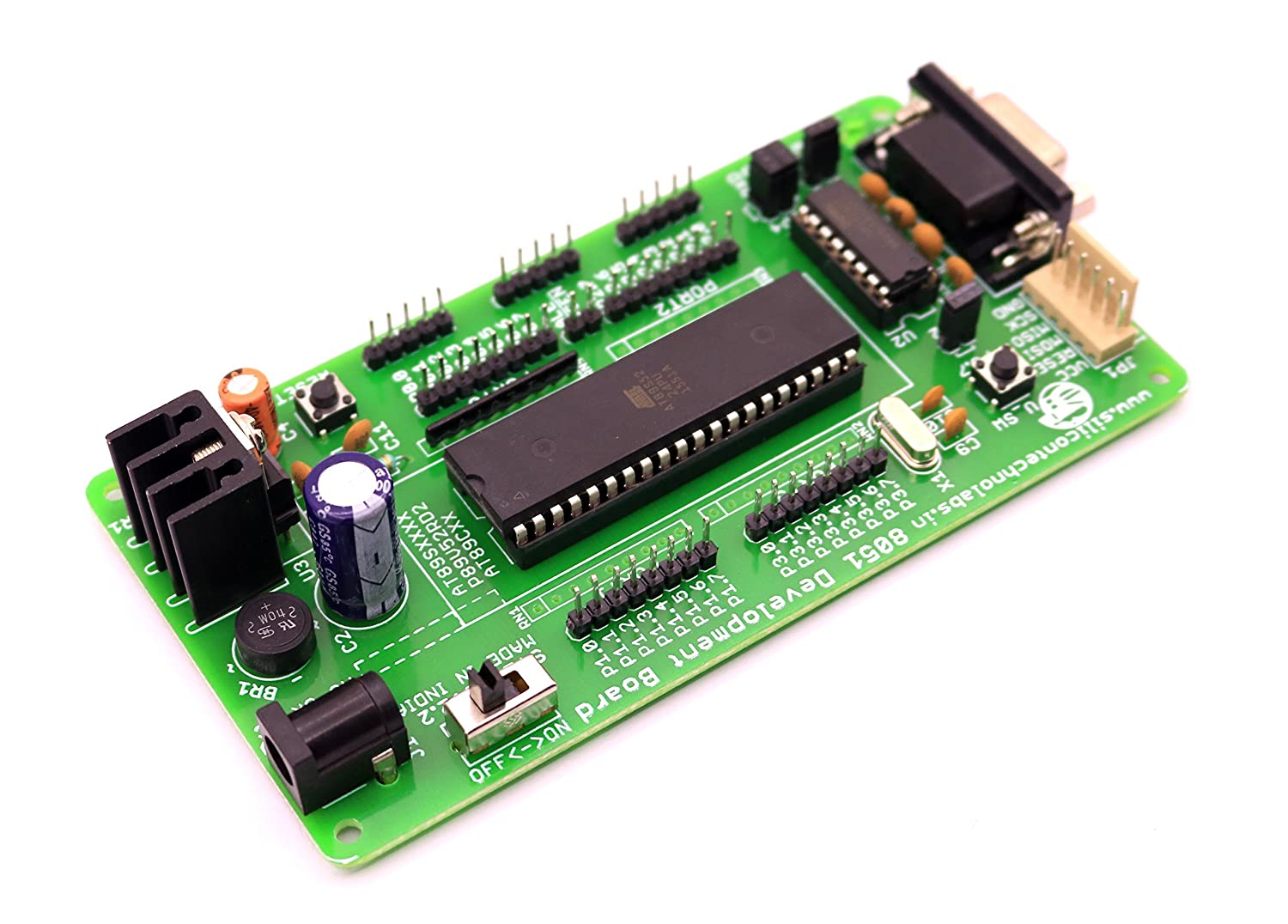 Silicon Technolabs Atmel 8051 Project Development Board On At89s52max232 Support At89sxxp89v51rd2sst89e516rd Microcontroller Based Schematics System Circuit Buy At89s52 Max232 At89sxx P89v51rd2 Sst89e516rd Online At Low Prices
