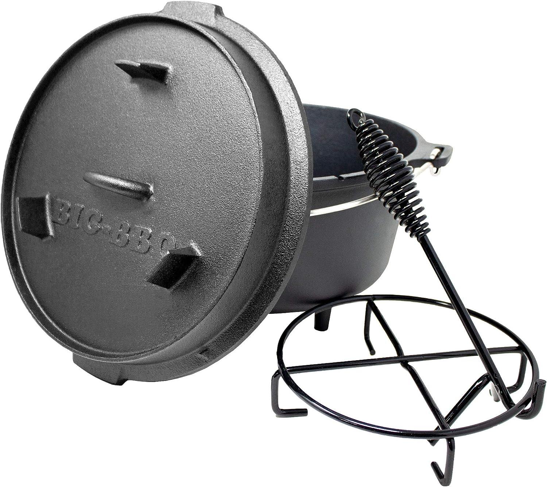 ToCis Big BBQ DO 9 Premium Dutch Oven | Horno holandés de Hierro Fundido | pretratadas y curadas 12