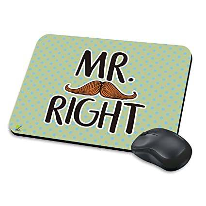 mm289 – Mr. Right gracioso regalo alfombrilla de ratón/Mousepad antideslizante ordenador portátil PC